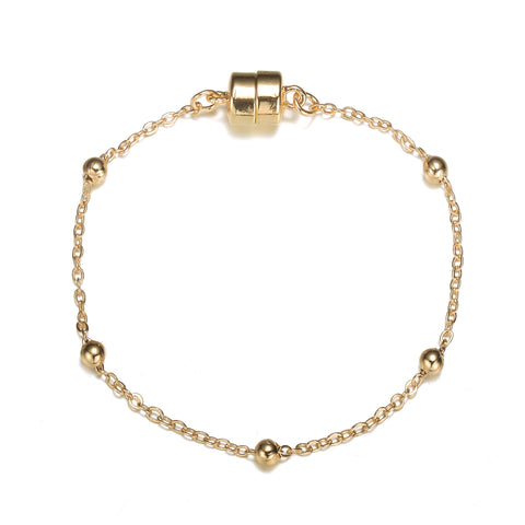 Jubilee Gold Bracelet-Jewels to Jet-Magnetic Clasp Jewelry