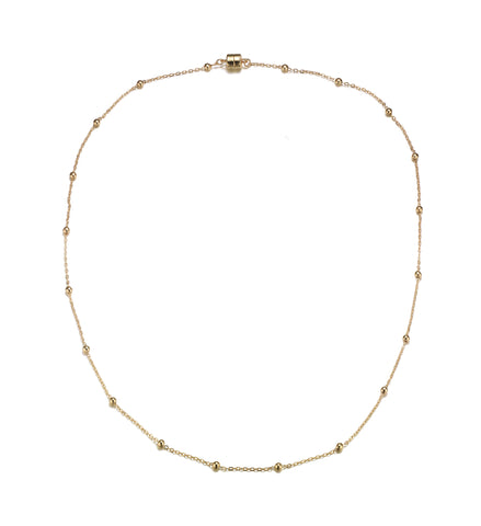 Jubilee Gold Long Necklace-Jewels to Jet-Magnetic Clasp Jewelry