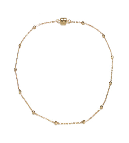 Jubilee Gold Short Necklace-Jewels to Jet-Magnetic Clasp Jewelry
