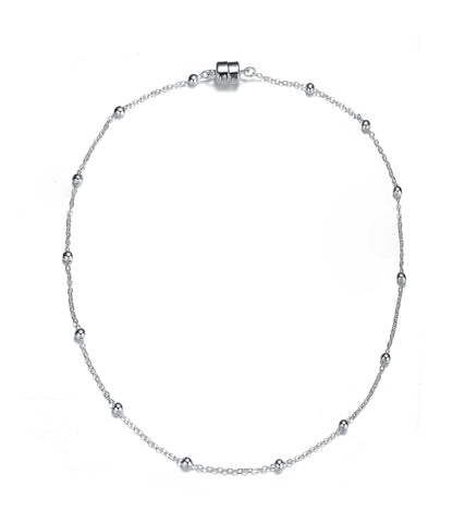 Jubilee Silver Long Necklace-Jewels to Jet-Magnetic Clasp Jewelry