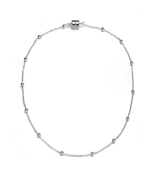 Jubilee Dainty Necklace: Silver or Gold-Jewels to Jet-Magnetic Clasp Jewelry