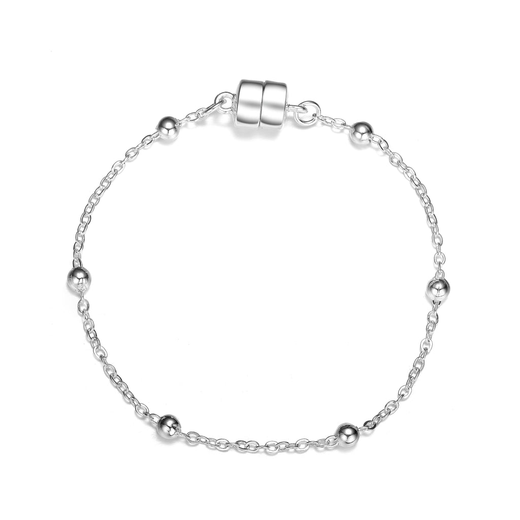 Jubilee Dainty Bracelet: Silver or Gold-Jewels to Jet-Magnetic Clasp Jewelry