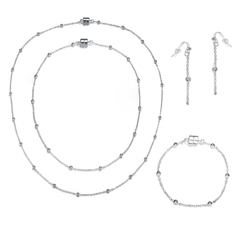 Jubilee: Full Set Silver Collection-Jewels to Jet-Magnetic Clasp Jewelry