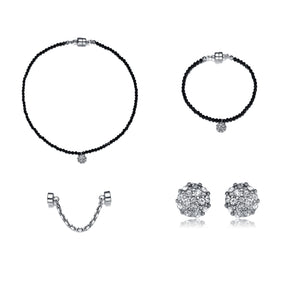 Lolita Jewelry Full Set-Jewels to Jet-Magnetic Clasp Jewelry