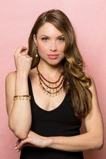Lyric: Gold 5-Piece Full Set Jewelry Collection-Jewels to Jet-Magnetic Clasp Jewelry