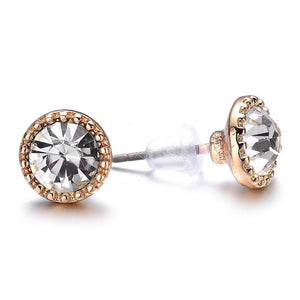 Lyric: Gold / Dark Topaz Stud Earrings-Jewels to Jet-Magnetic Clasp Jewelry