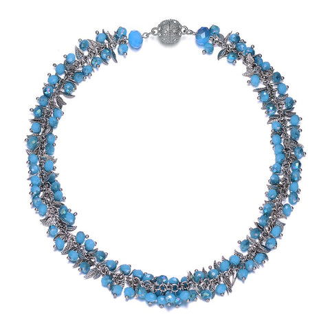 Madeira: Chunky Necklace With Magna Clasp-Jewels to Jet-Magnetic Clasp Jewelry