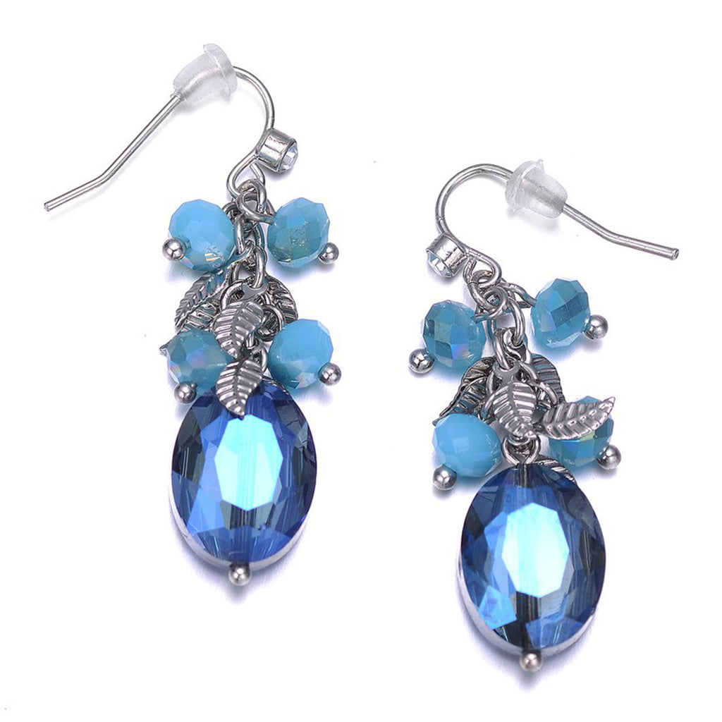 Madeira: Blue Drop Earrings-Jewels to Jet-Magnetic Clasp Jewelry