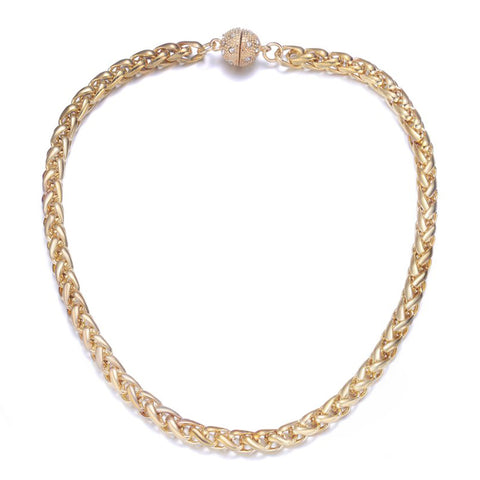 Monaco Gold Short Necklace by Jewels To Jet-Jewels to Jet-Magnetic Clasp Jewelry