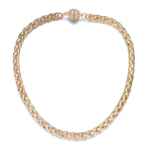 Monaco Necklace: Silver or Gold Chain-Jewels to Jet-Magnetic Clasp Jewelry