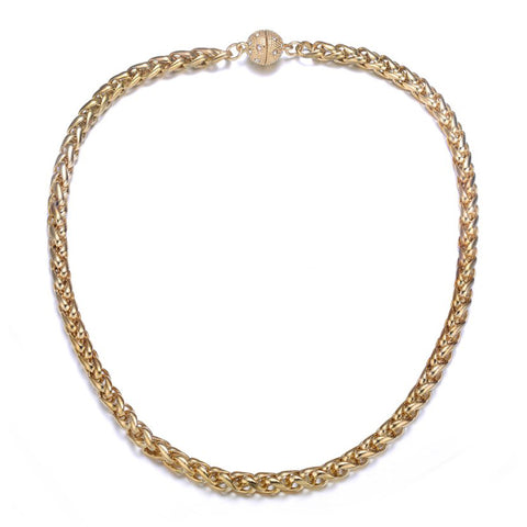 Monaco Gold Long Necklace by Jewels To Jet-Jewels to Jet-Magnetic Clasp Jewelry