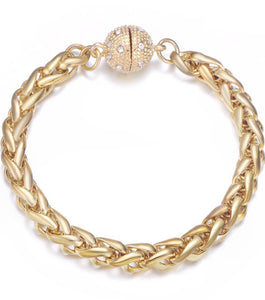Monaco Gold Bracelet-Jewels to Jet-Magnetic Clasp Jewelry