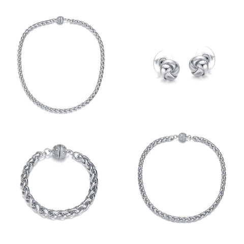 Monaco Silver:  4 Piece Jewelry Set by Jewels To Jet - Jewels to Jet