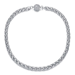 Monaco Silver Short Necklace by Jewels To Jet