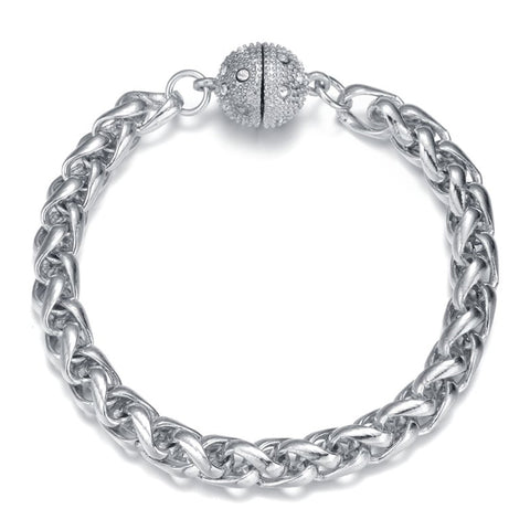 Monaco Silver Bracelet by Jewels To Jet-Jewels to Jet-Magnetic Clasp Jewelry