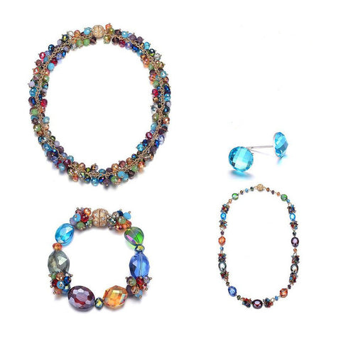 Monet: 5 Piece Colorful Jewelry Set With Magna Clasp-Jewels to Jet-Magnetic Clasp Jewelry