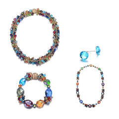 Monet: 5 Piece Colorful Jewelry Set With Magna Clasp