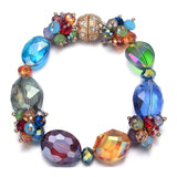 Monet: Colorful Bracelet With Magna Clasp-Jewels to Jet-Magnetic Clasp Jewelry