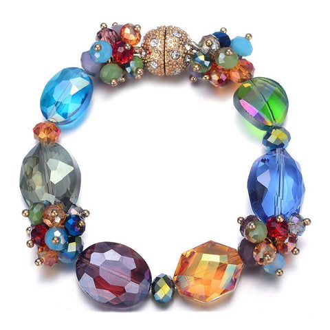 Monet: Colorful Bracelet With Magna Clasp - Jewels to Jet