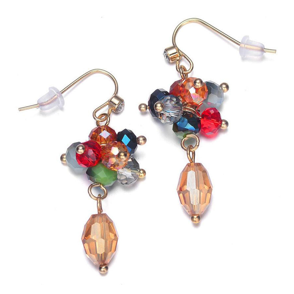 Monet: Colorful Dangle Earrings-Jewels to Jet-Magnetic Clasp Jewelry