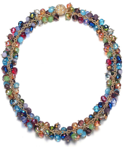 Monet: Colorful Chunky Necklace With Magna Clasp-Jewels to Jet-Magnetic Clasp Jewelry