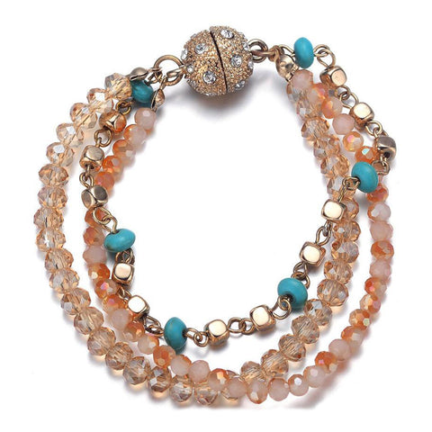 Montego: Bohemian Bracelet With Magna Clasp - Jewels to Jet