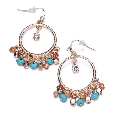 Montego: Bohemian Drop Earrings-Jewels to Jet-Magnetic Clasp Jewelry