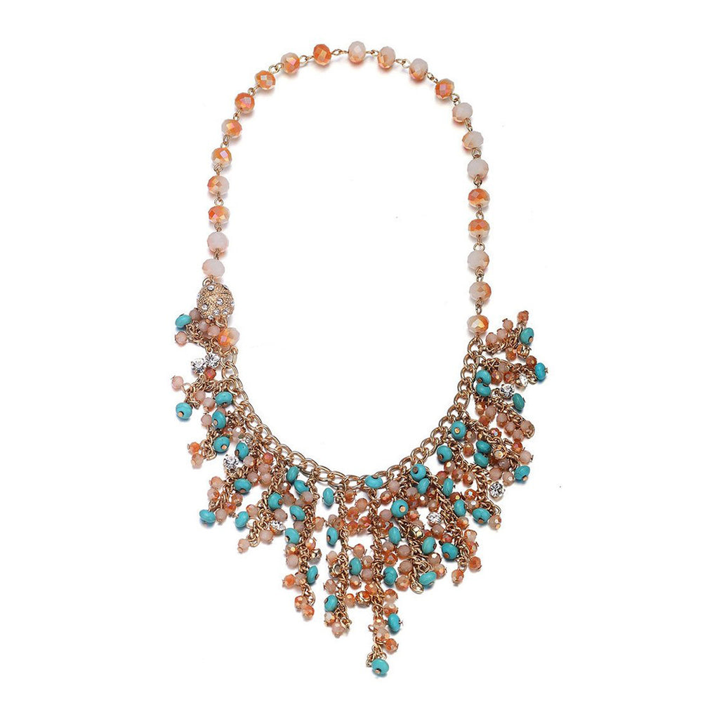 Montego: Gorgeous Bohemian Necklace-Jewels to Jet-Magnetic Clasp Jewelry