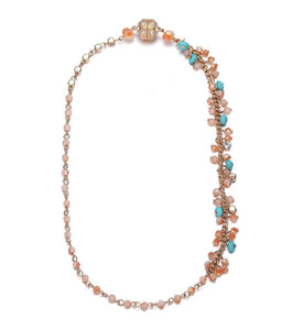 Montego: Single Strand Bohemian Necklace-Jewels to Jet-Magnetic Clasp Jewelry