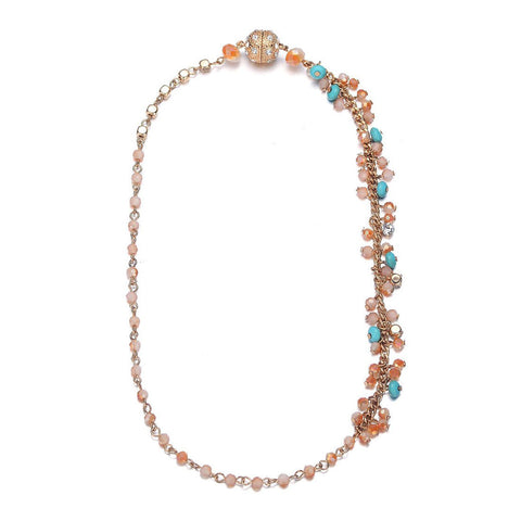 Montego: Single Strand Bohemian Necklace With Magna Clasp-Jewels to Jet-Magnetic Clasp Jewelry