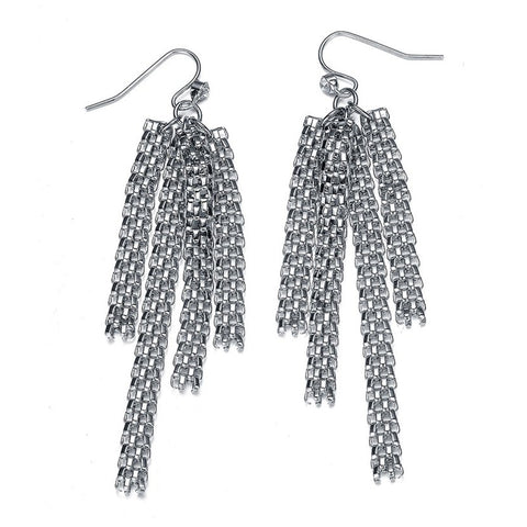 New Kingston: Silver Braided Strands Earrings - Jewels to Jet