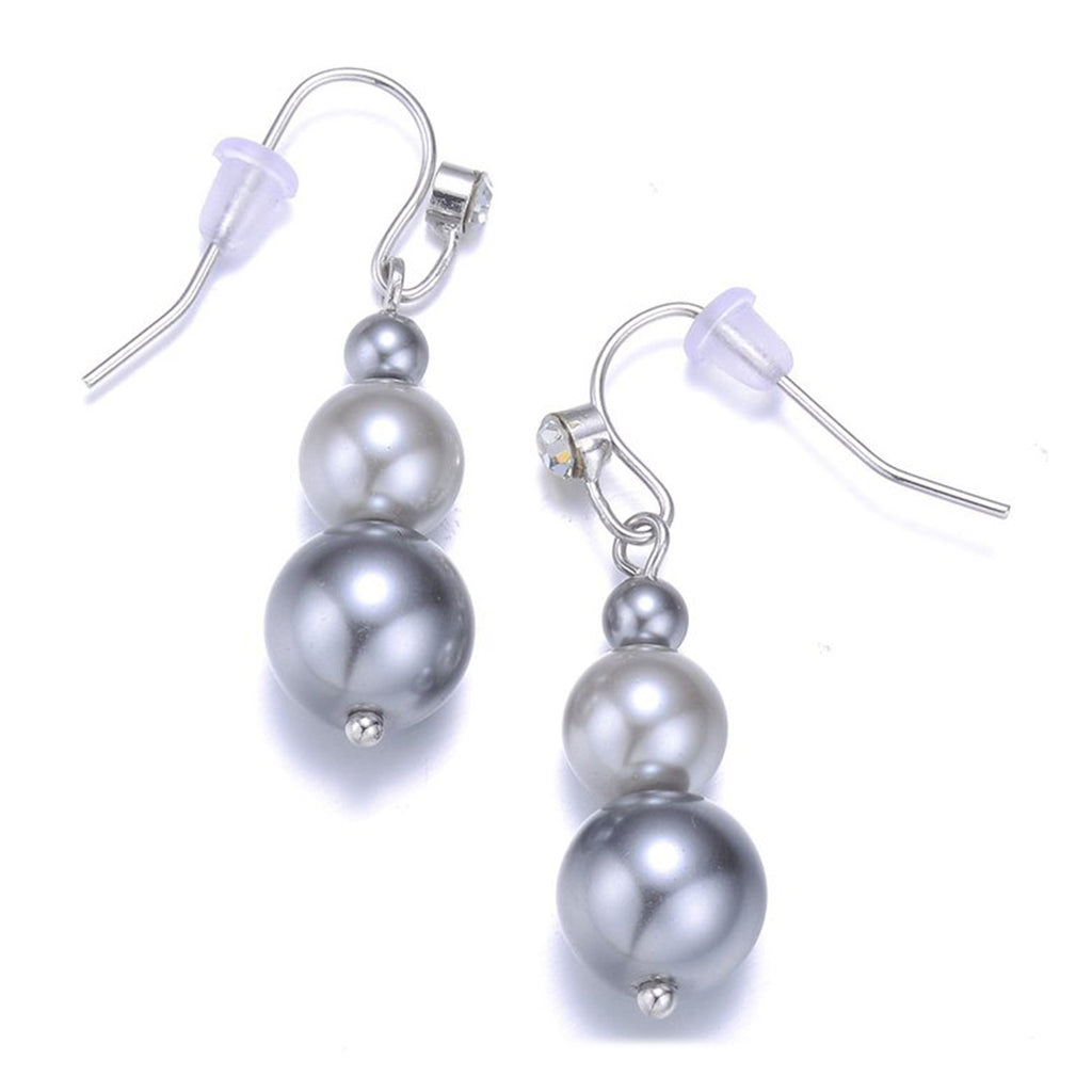 New Opera: Gray Pearl Earrings-Jewels to Jet-Magnetic Clasp Jewelry