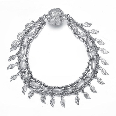 Amrita Sen Radha: Silver Bracelet-Jewels to Jet-Magnetic Clasp Jewelry