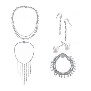 Amrita Sen Radha: 5 Piece Full Set Jewelry Collection-Jewels to Jet-Magnetic Clasp Jewelry