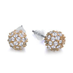 Diamond Ball Studs Gold 8mm by Jewels to Jet