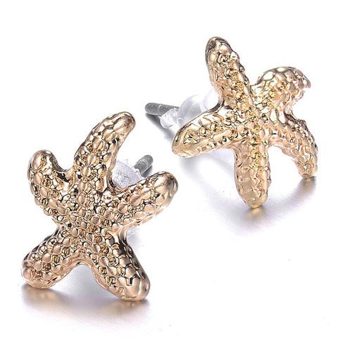 Seashore Gold Studs - Jewels to Jet