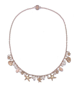Seashore: Single-Strand Necklace in Silver or Gold-Jewels to Jet-Magnetic Clasp Jewelry