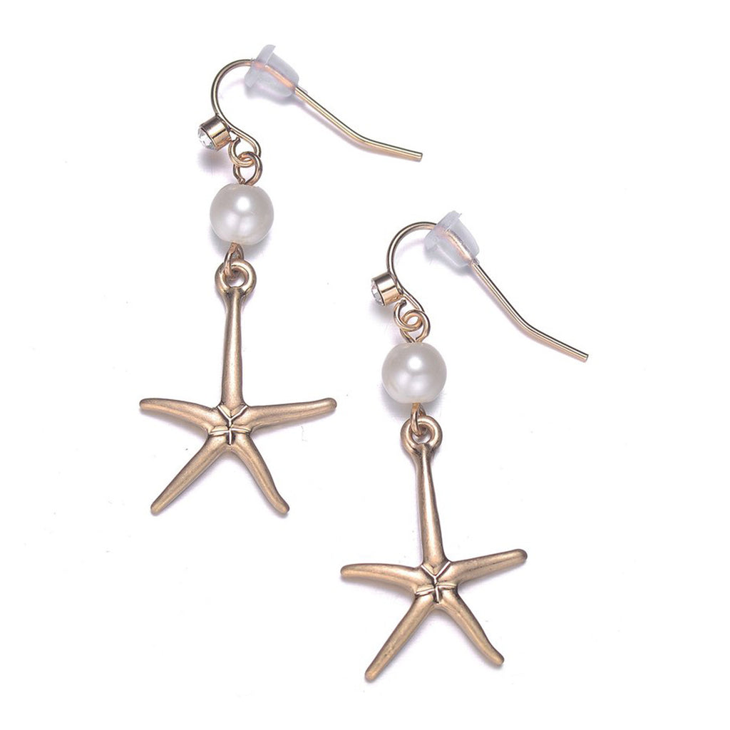 Seashore Earrings: Silver or Gold-Jewels to Jet-Magnetic Clasp Jewelry