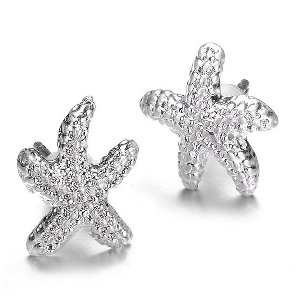 Seashore Studs: Silver or Gold-Jewels to Jet-Magnetic Clasp Jewelry