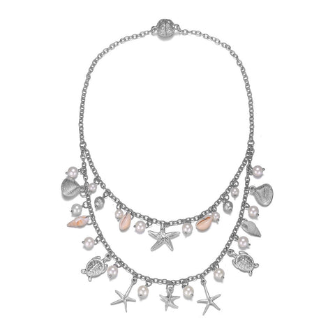 Seashore Silver Double-Strand Necklace With Magna Clasp - Jewels to Jet
