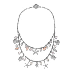 Seashore Silver Double-Strand Necklace With Magna Clasp