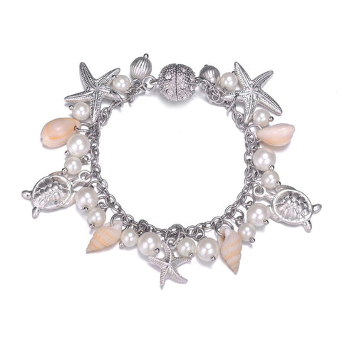 Seashore Silver Bracelet With Magna Clasp - Jewels to Jet