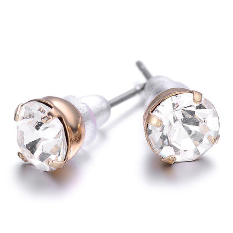 St. Tropez: Gold Stud Earrings-Jewels to Jet-Magnetic Clasp Jewelry