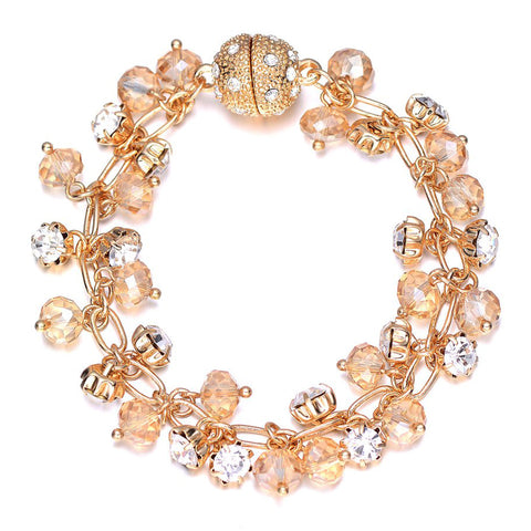St. Tropez: Gold Bracelet With Magna Clasp-Jewels to Jet-Magnetic Clasp Jewelry