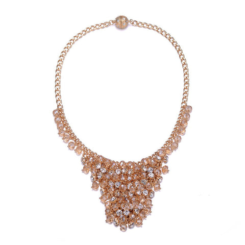 St. Tropez: Gold Chunky Necklace With Magna Clasp-Jewels to Jet-Magnetic Clasp Jewelry