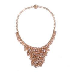 St. Tropez: Gold Chunky Necklace With Magna Clasp
