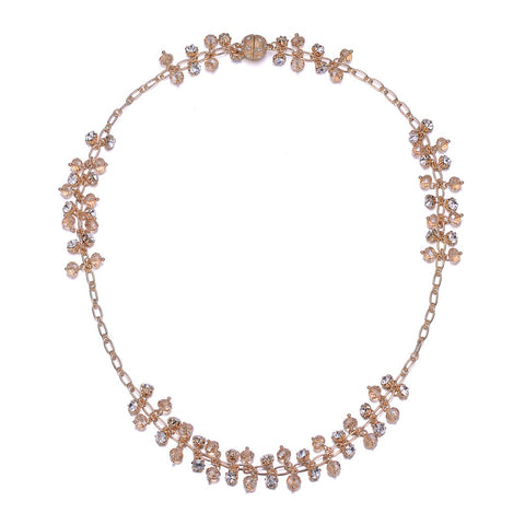 St. Tropez: Gold Long Necklace With Magna Clasp-Jewels to Jet-Magnetic Clasp Jewelry