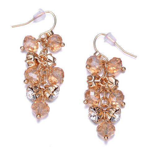 St. Tropez: Gold Dangling Earrings-Jewels to Jet-Magnetic Clasp Jewelry