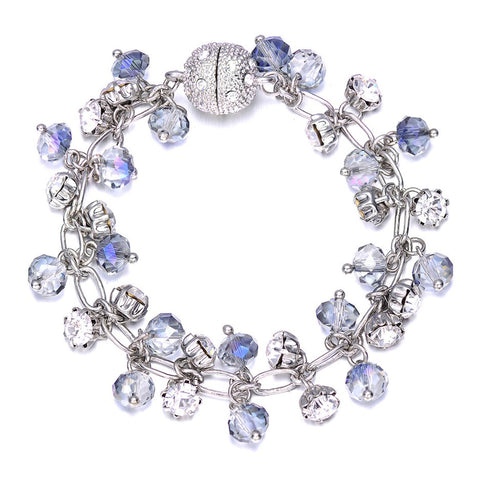 St. Tropez: Silver Bracelet With Magna Clasp-Jewels to Jet-Magnetic Clasp Jewelry