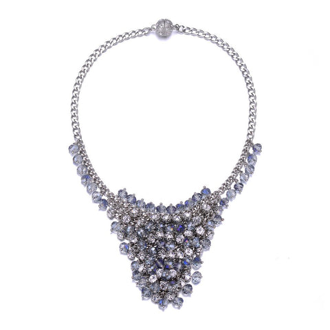 St. Tropez: Silver Chunky Necklace With Magna Clasp-Jewels to Jet-Magnetic Clasp Jewelry